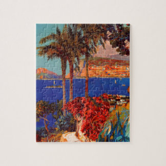 Vintage Antibes Cote D'Azur Travel Jigsaw Puzzle