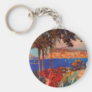 Vintage Antibes Cote D'Azur Travel Keychain
