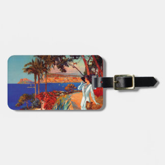 Vintage Antibes Cote D'Azur Travel Luggage Tag