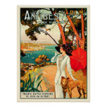 Vintage Antibes Cote d'Azur Travel Print