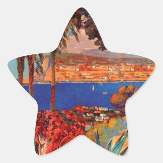 Vintage Antibes Cote D'Azur Travel Star Sticker