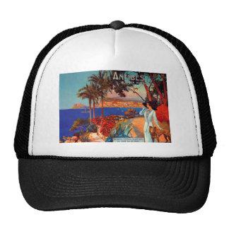 Vintage Antibes Cote D'Azur Travel Trucker Hat