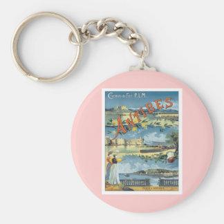 Vintage Antibes Mediterranean Keychain