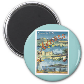 Vintage Antibes Mediterranean Magnet