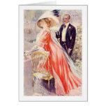 Vintage, antigüedad, regalos románticos del Victor Tarjeton
