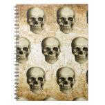Vintage antiguo de los cráneos góticos de Steampun Libro De Apuntes