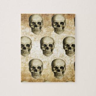 Vintage antiguo de los cráneos góticos de Steampun Rompecabeza