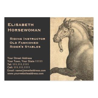 Vintage antiguo ecuestre del caballo del instructo tarjeta personal