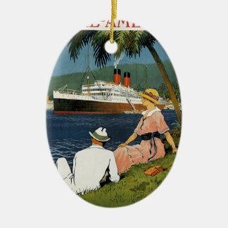 Vintage Antilles Cruise Art Ceramic Ornament