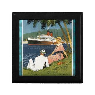 Vintage Antilles Cruise Art Keepsake Box