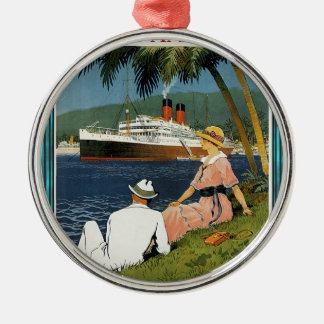 Vintage Antilles Cruise Art Metal Ornament