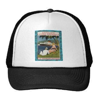 Vintage Antilles Cruise Art Trucker Hat