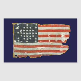 Vintage Antique American Flag Stickers