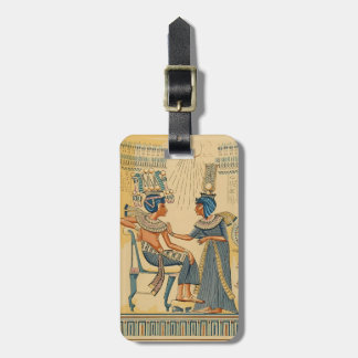 Vintage Antique Ancient Egyptian Royalty Luggage Tag