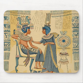 Vintage Antique Ancient Egyptian Royalty Mouse Pad
