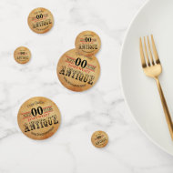 Vintage, Antique and 00th Birthday Design Confetti
