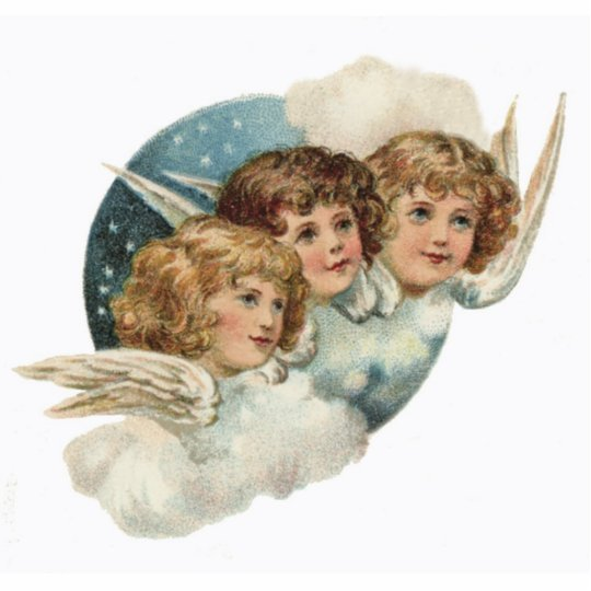 Vintage, Antique-Angels Christmas Ornament