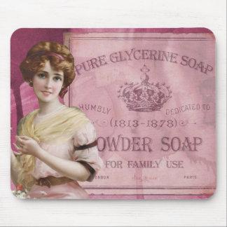 Vintage Antique Art Deco Lady Soap Advertisement Mouse Pad