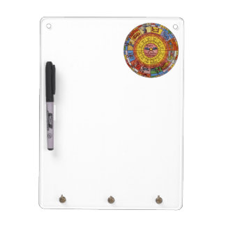 Vintage Antique Astrology, Celestial Zodiac Wheel Dry-Erase Board