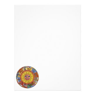 Vintage Antique Astrology, Celestial Zodiac Wheel Letterhead