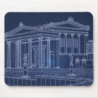 Vintage Antique Athens Acropolis Greece Greek Mouse Pad