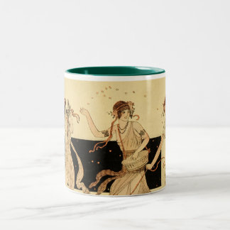 Vintage Antique Bacchus Dionysus Party Two-Tone Coffee Mug