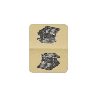 Vintage Antique Black Old Fashioned Typewriter Business Card Holder