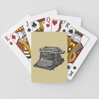 Vintage Antique Black Old Fashioned Typewriter Deck Of Cards
