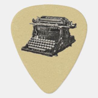 Vintage Antique Black Old Fashioned Typewriter Guitar Pick