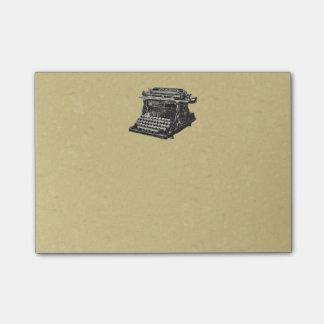 Vintage Antique Black Old Fashioned Typewriter Post-it® Notes