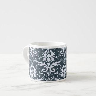 Vintage Antique Blue Damask Espresso Mugs