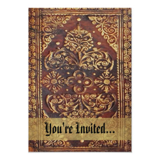 "Vintage Antique Book Image 5"" X 7"" Invitation Card"