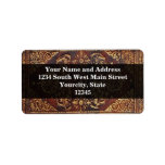 Vintage Antique Book Image Personalized Address Labels