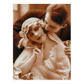 Vintage Antique Bride and Groom Romantic Gifts Postcard