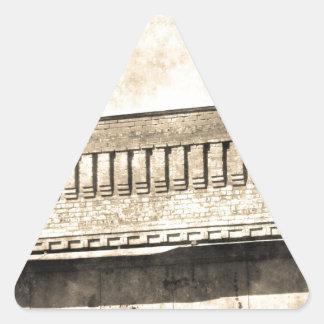 Vintage Antique Building Triangle Sticker