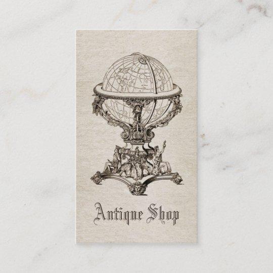 Vintage Antique Business Card Template Sepia Zazzle