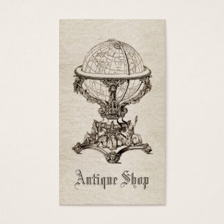 Vintage antique business card template Sepia