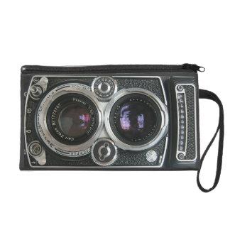 Vintage Antique Camera Case Cover Wristlet Purses