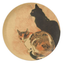 Vintage Antique Cats Theophile Steinlen Animals Melamine Plate