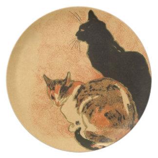 Vintage Antique Cats Theophile Steinlen Animals Melamine Plate