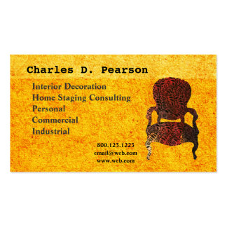 Vintage Antique Chair Business Cards