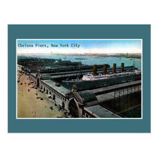 Vintage antique Chelsea Piers New York City Postcard