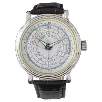 Vintage Antique Circular Slide Rule Wrist Watches