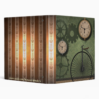 Vintage Antique Clocks Cycle Notebook Avery Binder