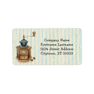 Monochrome Vintage Coffee Grinder Silhouette With ...  |Coffee Grinders Antique Label