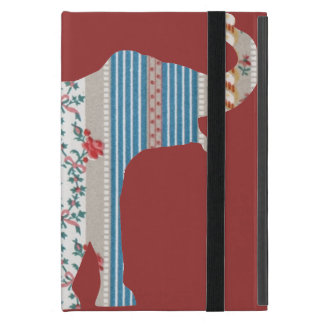 Vintage Antique Elephant Pattern Wallpaper Floral Covers For iPad Mini