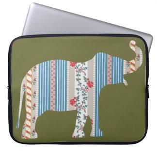 Vintage Antique Elephant Pattern Wallpaper Floral Laptop Computer Sleeves