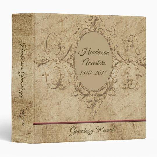 vintage antique family tree 3 ring binder