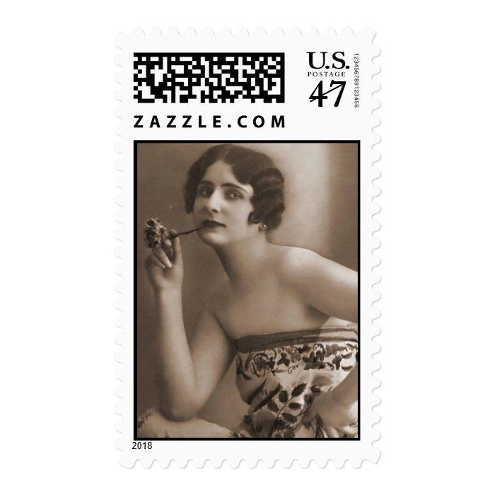Vintage Antique Flapper Women Photos, Illustration Postage
