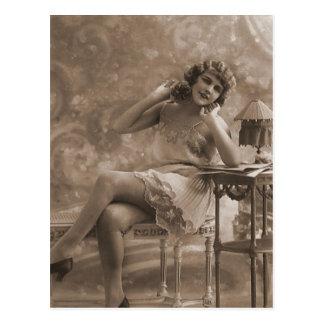 Vintage Antique Flappers, Portraits of Women, Post Card